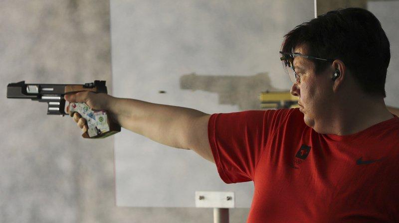 Heidi Diethelm Gerber a remporté la médaille d'argent des Jeux européens à Minsk au pistolet sportif (25 m). (Archives)