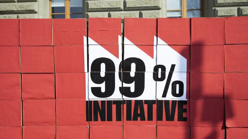 Impôts: le Conseil fédéral rejette l'initiative pour taxer 1% des plus riches