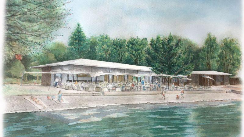Perroy: le futur restaurant de la plage retardé par un recours