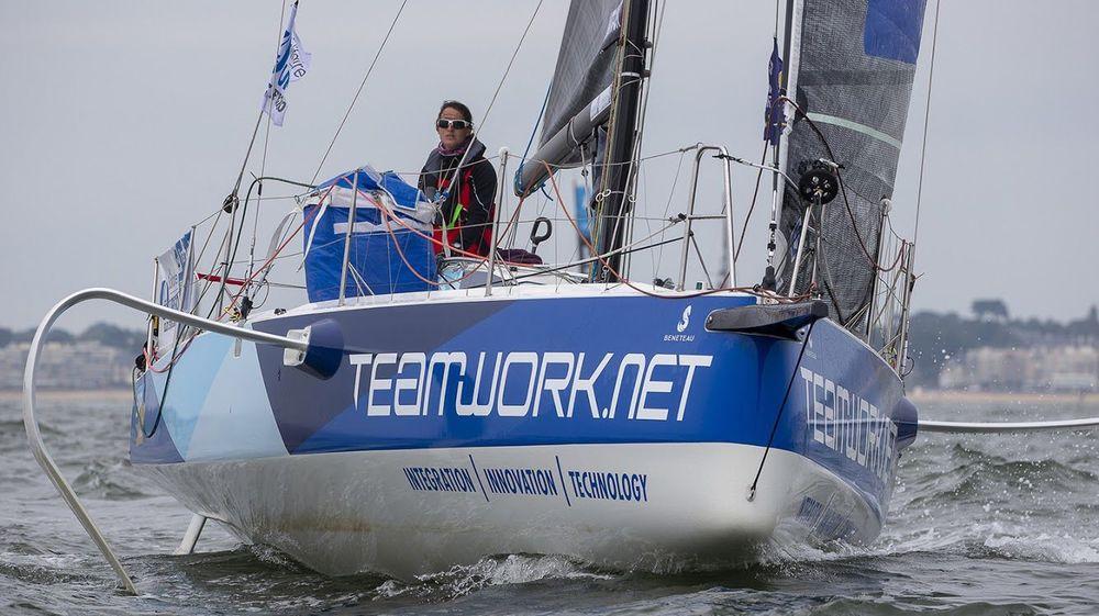 Lors des quatre étapes au programme, Justine Mettraux a passé plus de 14 jours à bord de TeamWork avant de conclure son périple à Dieppe.