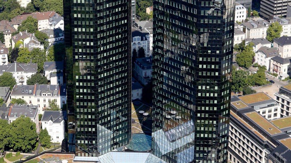Le quartier général de Deutsche Bank, à Francfort, en Allemagne.