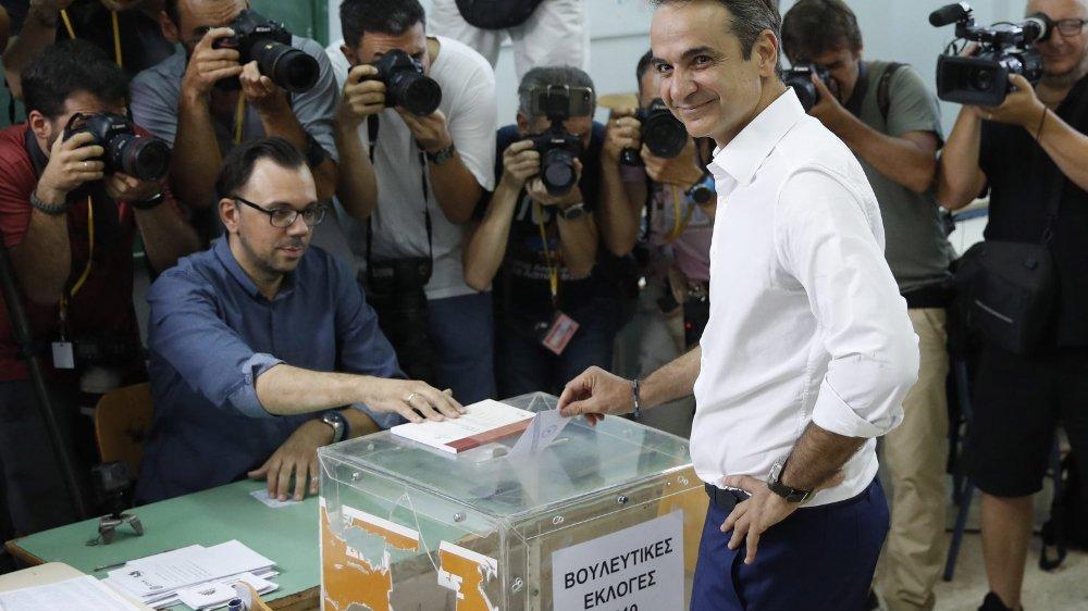 Kyriakos Mitsotakis, vainqueur des législatives.