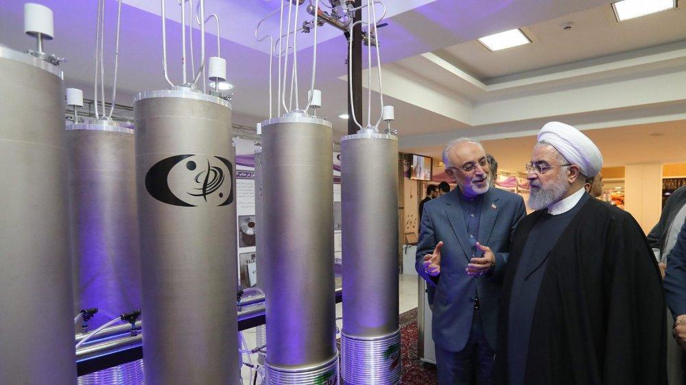Le président iranien Hassan Rohani, visitant ici des installations nucléaires, attend davantage de soutien des Européens.