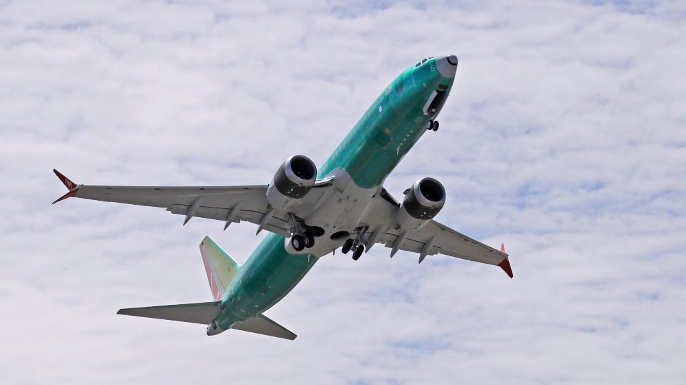 Un Boeing 737 Max en plein test de vol près de l'usine de Renton, aux Etats-Unis,