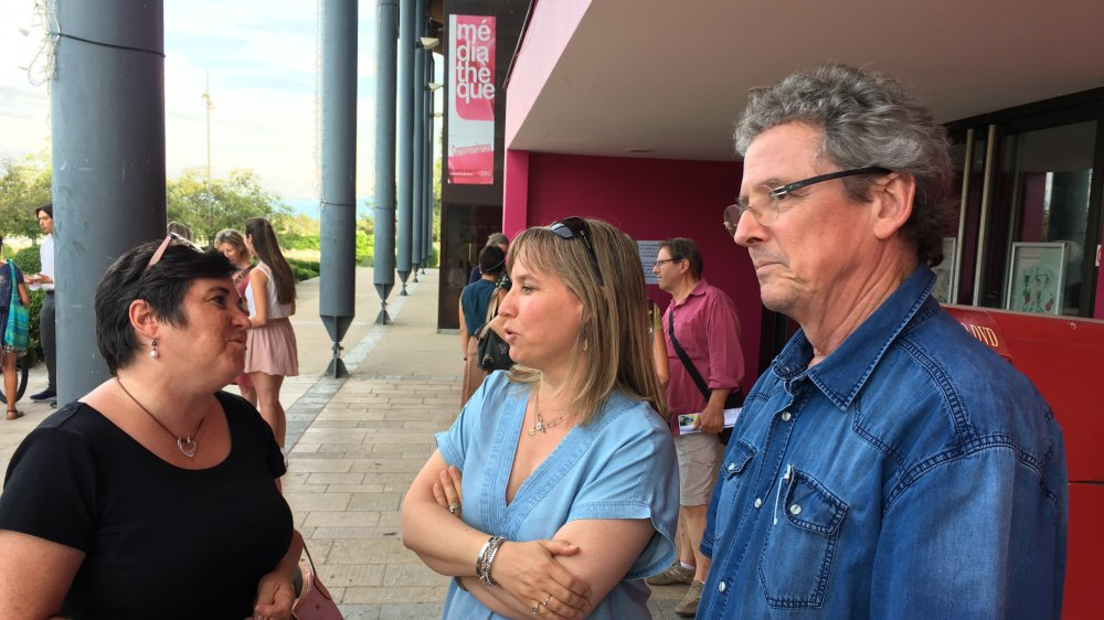 Judith Hébert, maire de Grilly, Odile Decré, syndique de Commugny et Alain Barraud, syndic de Chavannes-de-Bogis, partagent leurs inquiétudes quant à la future usine.