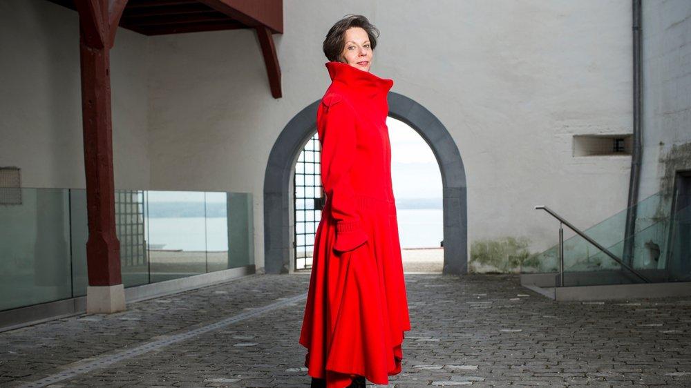 Brigitte Ravenel investira la cour du château de Nyon avec l'association Pleine Lune.