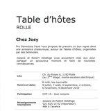 Table d'hôtes Chez Josy