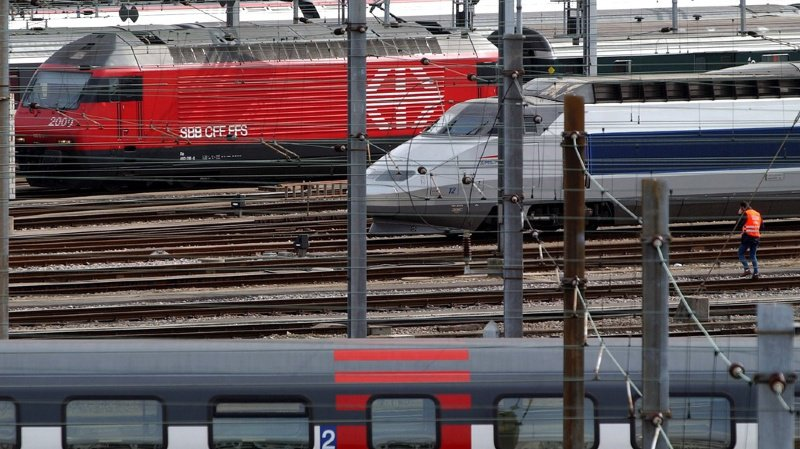Deux TGV en direction de Paris ont dû être supprimés.
