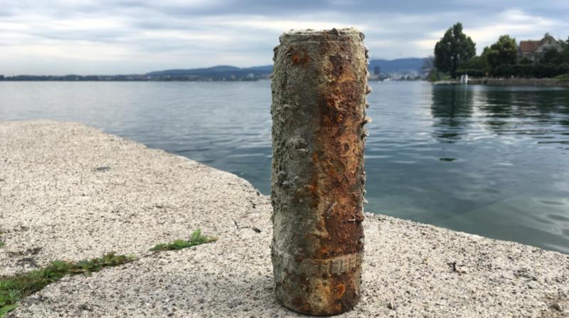 Lac de Zoug: découverte d'un obus non éclaté de la Première Guerre mondiale
