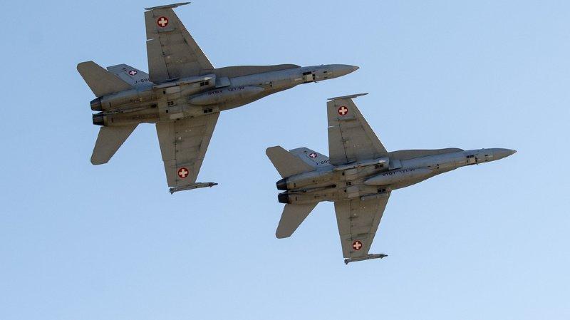 Les deux jets ont pris en chasse un avion italien. (illustration)