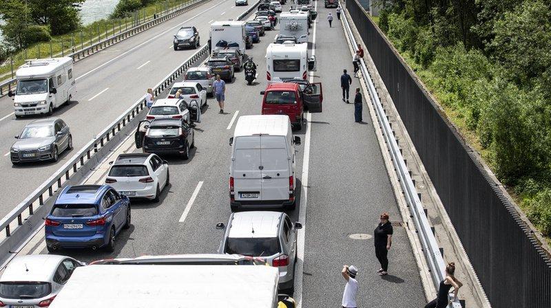 Tunnel du Gothard: à nouveau 10 kilomètres de bouchon devant l'entrée nord