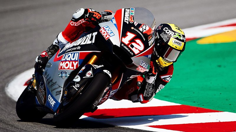Moto2: un poil chanceux, Thomas Lüthi prend la tête du championnat