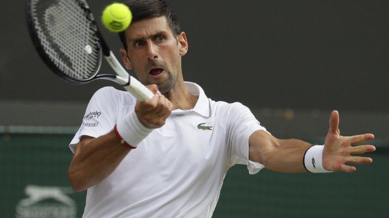 Djokovic n'a pas dû faire face à la moindre balle de break face à Ugo Humbert.