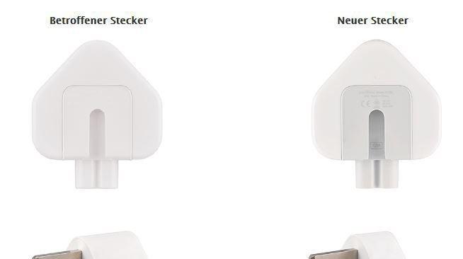 Rappel de produit: des adaptateurs secteur d'Apple ne doivent plus être utilisés