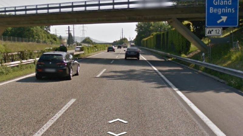 Un accident provoque un bouchon sur l'A1 entre Coppet et Gland