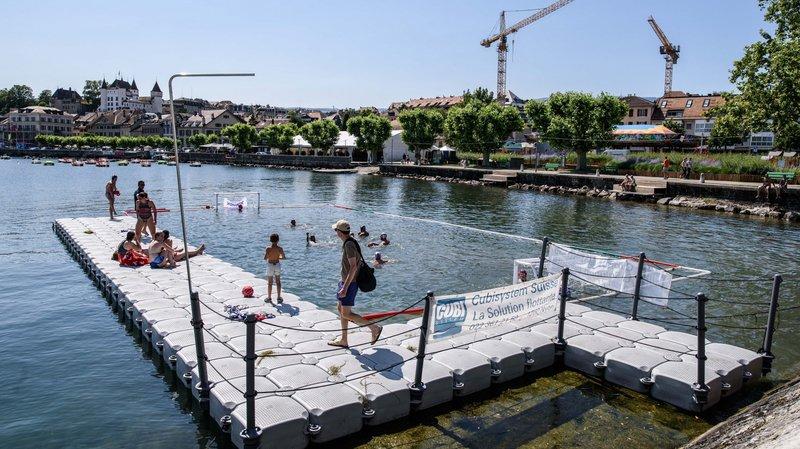Samedi et dimanche, le water-polo a pu être pratiqué dans le Léman grâce à une structure flottante.