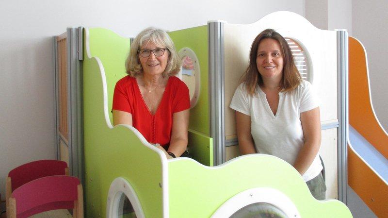 Marie-Christine Jotterand (à g.) et Julia Burette (à dr.), co-directrices du centre de vie enfantine Le Carrousel.