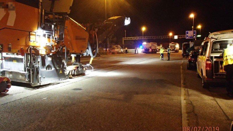 Argovie: un ouvrier écrasé par un camion sur un chantier de l'autoroute A1
