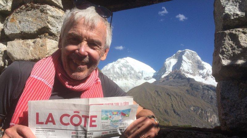 """Un «6000 mètres» de plus """"La Côte"""" à la main pour le Glandois Daniel Perler"""