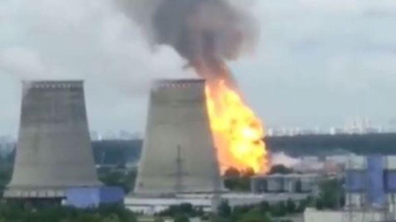 Moscou: incendie monstre dans une centrale thermique de la banlieue