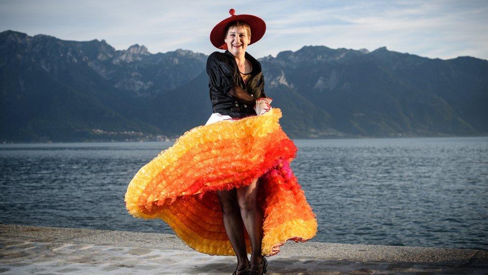 Murielle Arn est habituée aux costumes, elle qui danse dans une troupe folklorique.