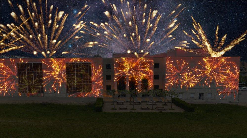 L'animation se déploiera sur la façade arrière de Grand-Champ, sur 100 m de long et 12 m de haut.