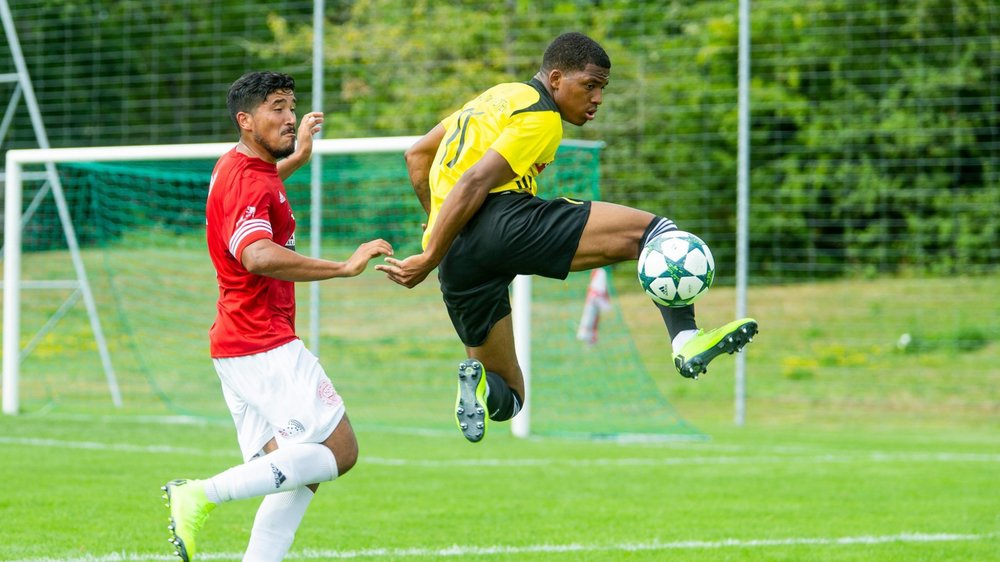 Le Nyonnais Matheus Vieira a inscrit le 3e but face à son ancien club.