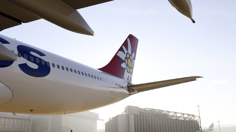 La compagnie aérienne Edelweiss a dû annuler plusieurs vols après la collision de l'un de ses avions à l'aéroport canadien de Vancouver samedi. (illustration)