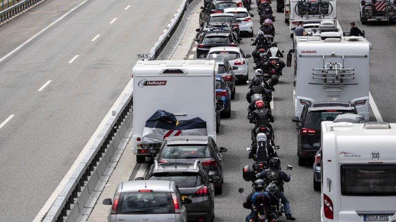 Les automobilistes doivent une nouvelle fois se montrer patients pour rejoindre le sud (archives).