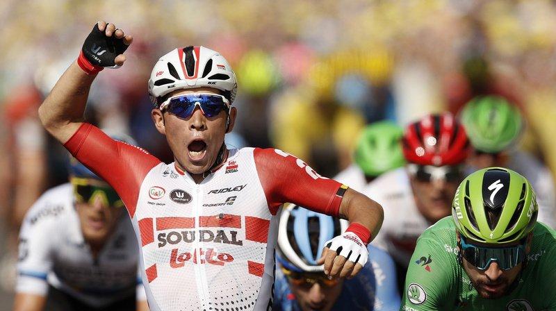 Cyclisme – Tour de France: Caleb Ewan gagne la 16e étape au sprint à Nîmes