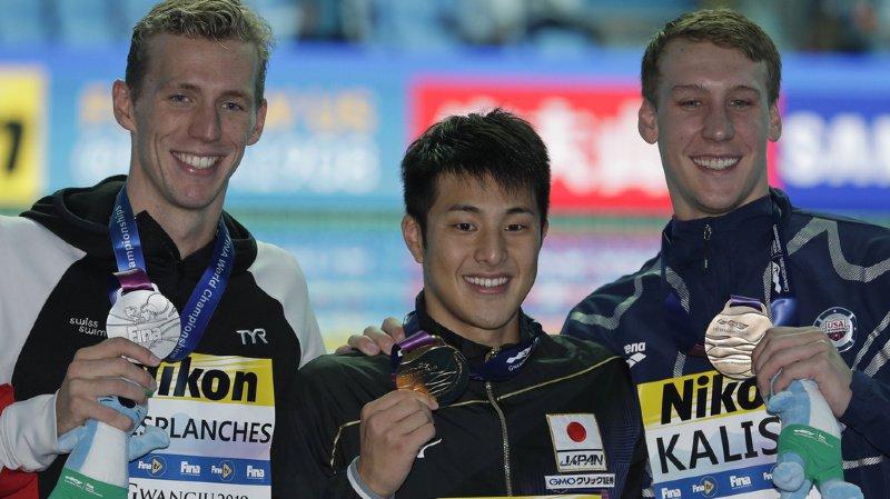 Natation: le Genevois Jérémy Desplanches décroche la médaille d'argent sur le 200 m 4 nages