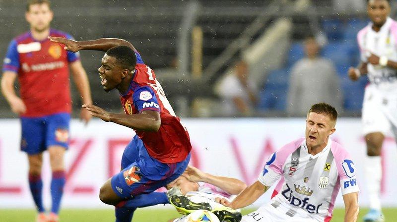 Afimico Pululu et ses coéquipiers bâlois se sont inclinés contre le LASK à domicile.