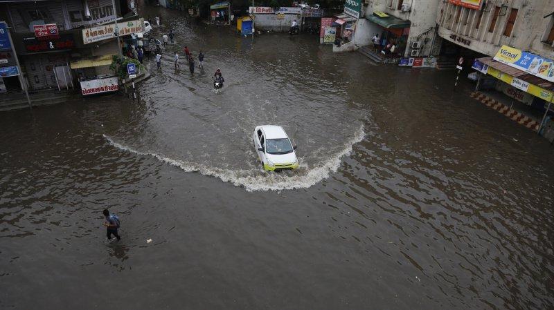 Les rues d'Ahmadabad étaient sous l'eau il y a 4 jours. De nouvelles pluies abondantes sont attendues ces prochains jours (archives).