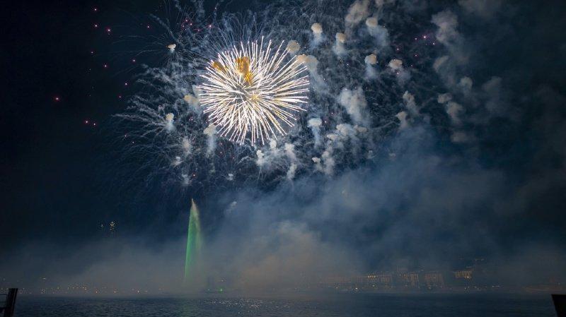 Au total, quelque 10'000 effets pyrotechniques ont été dévoilés dès 22h00 pendant environ 45 minutes.