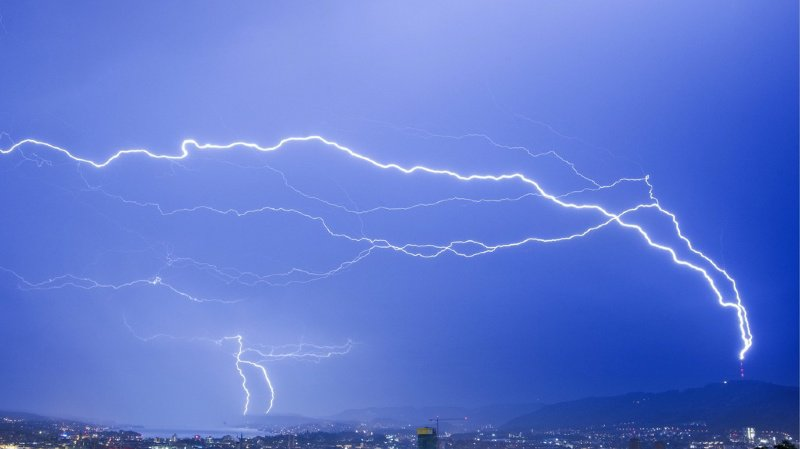 Météo: la Suisse frappée par plus de 40'000 éclairs mardi