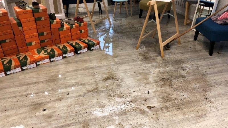 Les commerces de Cossonay plombés par les inondations
