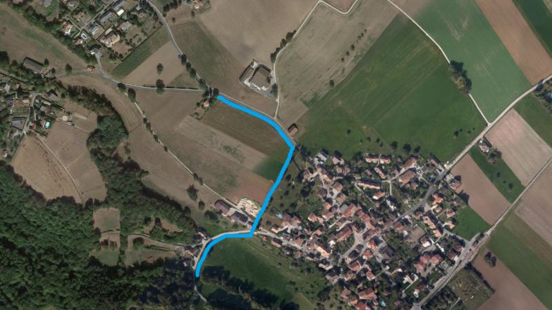 Le collecteur remplacera l'ancien, entre la route de la Bellangère et celle de la Scie.