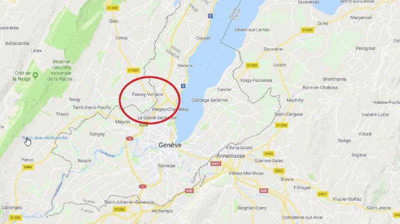 La commune de Ferney-Voltaire se trouve à quelques centaines de mètres de l'aéroport de Genève.
