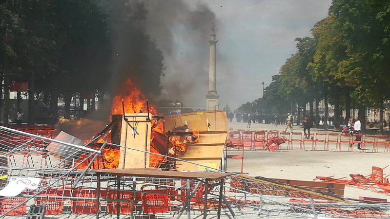 France: tensions lors d'une manifestation contre les violences policières à Nantes
