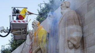 Genève: des vandales déversent de la peinture sur le Mur des Réformateurs