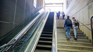 Les escalators du Nyon-Saint-Cergue enfin opérationnels