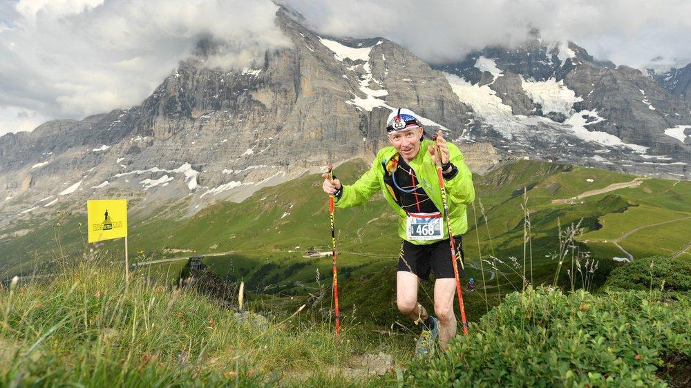 Michel Magnin lors de l'Eiger Ultra-Trail en juillet dernier.