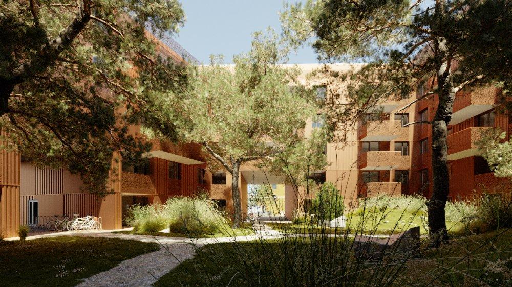 Le futur quartier de la Suettaz prévoit quatre îlots d'immeubles à la place des barres.