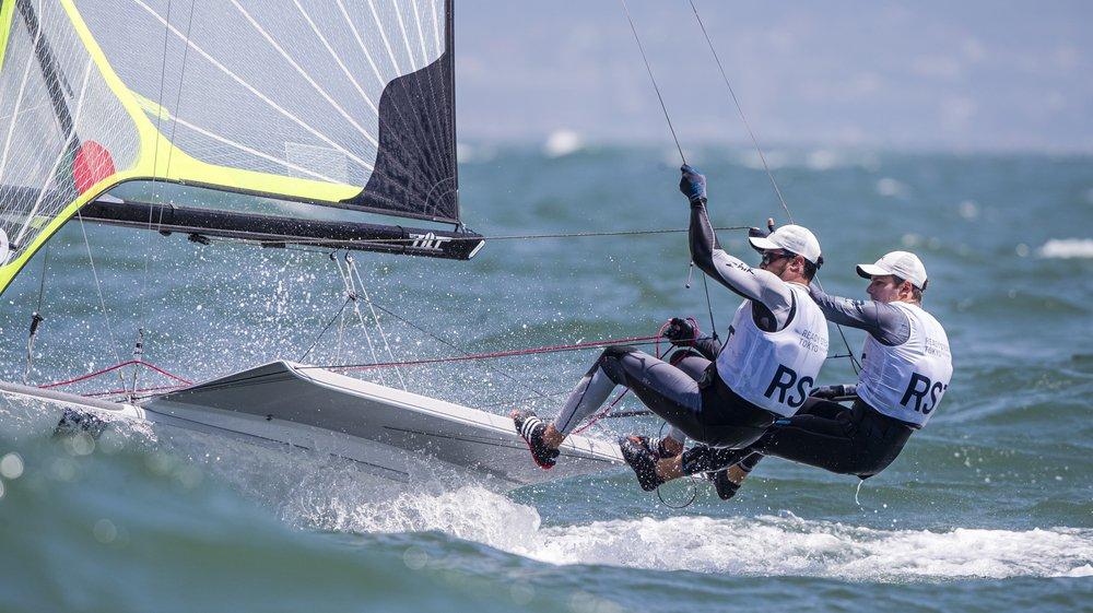 Pas encore de ticket olympique mais une prise de marque concluante pour Lucien Cujean (g.) et Sébastien Schneiter.