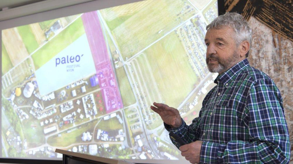 Daniel Rossellat, fondateur et président du Paleo festival, a présenté mercredi le nouvel aménagement du Paléo festival.