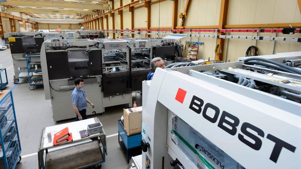 Plusieurs entreprises ont déjà annoncé un tassement de leurs affaires, comme Bobst à Renens.
