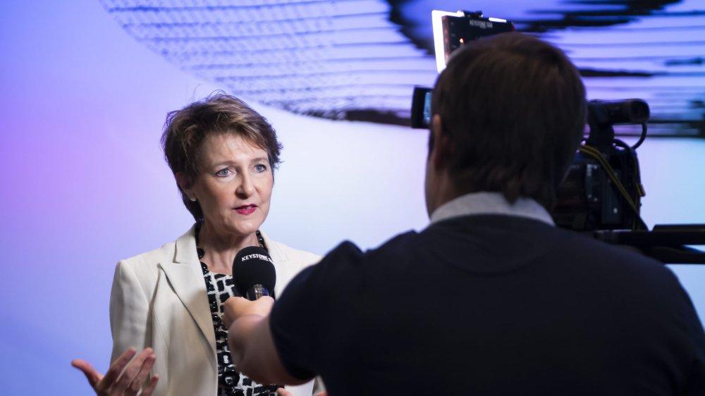 «Il y a nécessité d'agir et il faut aller vite», a insisté Simonetta Sommaruga devant les médias.