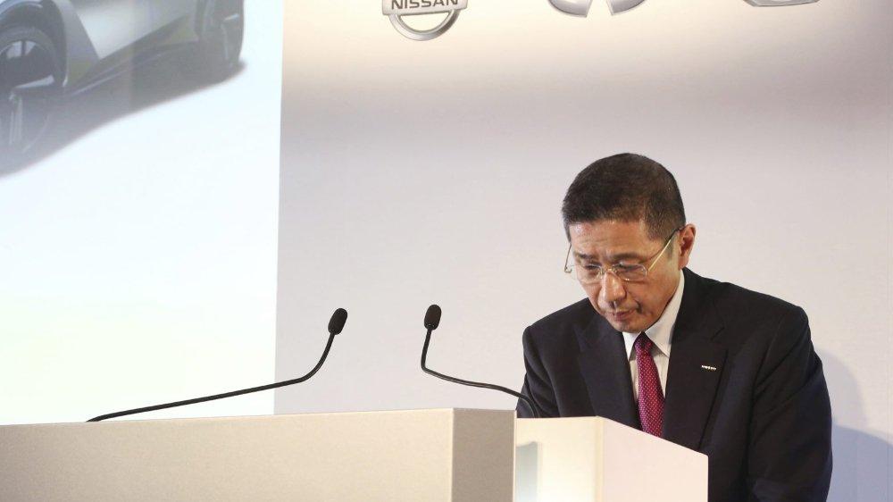 Le directeur général de Nissan, Hiroto Saikawa, s'est exprimé hier devant la presse.
