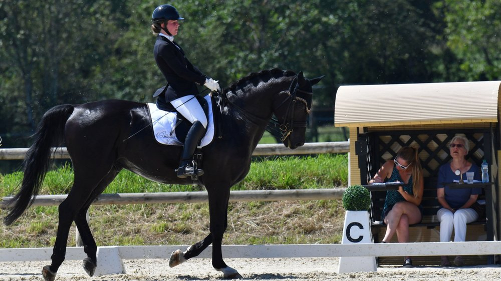 Les cavaliers sont venus des quatre coins de la Suisse pour ce concours. Ici Rosina Maibach sur Cameron.