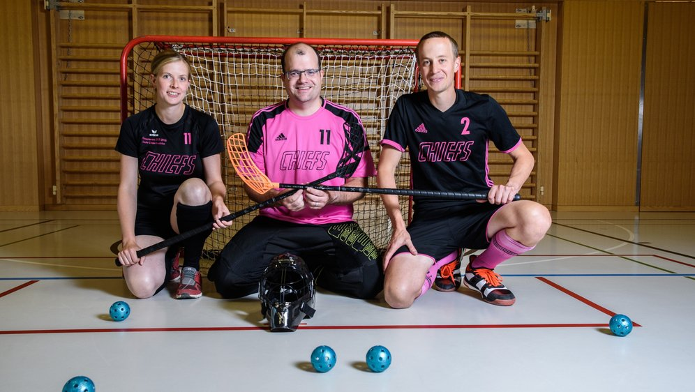 Elodie Blaser, Julien Aeschlimann et Fabien Kellerhals ont vu leurs liens renforcés par l'unihockey.